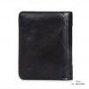 กระเป๋าสตางค์ผู้ชาย หนังแท้ ทรงตั้ง Leather CC - สีดำ