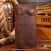 กระเป๋าสตางค์ผู้ชาย หนังแท้ ทรงยาว Wallet Long Leather - สีน้ำตาล