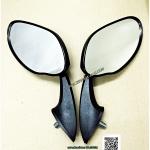 กระจก มองหลัง แต่ง กระจกติดหน้ากาก น๊อต 8 mm พลาสติก สีดำ N0.100011