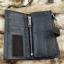 กระเป๋าสตางค์ผู้ชาย หนังแท้ ทรงยาว GUBINTU Line Button Zip - สีดำ thumbnail 9