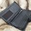 กระเป๋าสตางค์ผู้ชาย หนังแท้ ทรงยาว GUBINTU Line Button Zip - สีดำ thumbnail 17