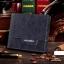 กระเป๋าสตางค์ผู้ชาย ทรงสั้น Weichen - สีน้ำเงิน thumbnail 1