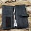 กระเป๋าสตางค์ผู้ชาย หนังแท้ ทรงยาว GUBINTU Line Button Zip - สีดำ thumbnail 11