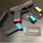 New.ปิดท้ายสไลด์แต่ง / ส้นแม็ก เพิ่ม 2นัด ใช้กับปืน GLOCK43 / ซองปืนพกใน Cytac GLOCK43 ราคาพิเศษ