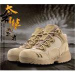 New.รองเท้ายุทธวิธี ข้อสั้น / ข้อยาว ทหารยุทธวิธีผู้ชายบู๊ทส์ทะเลทรายต่อสู้กีฬากลางแจ้งกองทัพเดินป่า Botas การเดินทางปีนเขารองเท้าหนัง ราคาพิเศษ