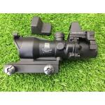 New.Trijicon ACOG TA31 Style 4x32 Scope Red Illuminated Auto Brightness W/ RMR RM01 Red Dot Reflex Sight(Red Type,Black) ราคาพิเศษ