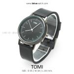 นาฬิกาข้อมือ รุ่น TOMI สีดำล้วน