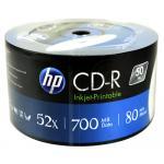 HP CD-R 52X Printable (50 pcs/Plastic Wrap)