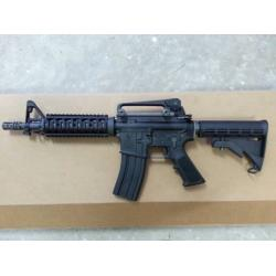 WE M4 CQB/R Gas Blow Back Rifle (Black, Open Chamber)