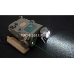 New.AN/PEQ-15 GREEN Laser Aiming Device With Flashlight สีดำ สีทราย ราคาพิเศษ