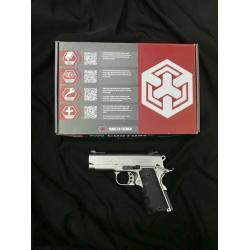 New.AW Custom NE10 Series 1911 Officer Size GBB Pistol (Color: Silver) ราคาพิเศษ