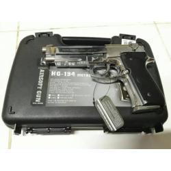 New.สินค้ามาใหม่ครับ ปืนสั้น HFC HG 194 FB FC M92SV / BK ไม่ออโต้ มาพร้อมกล่องปืน สีดำ สีเงิน ราคาพิเศษ