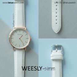 นาฬิกาข้อมือ รุ่น WEESLY-SIMM สีขาว