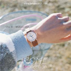 นาฬิกาข้อมือ หน้าปัดเล็ก รุ่น ROME