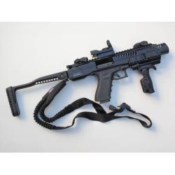New.ชุดแต่ง KPOS GLOCK 17, 18, 19, 22, 23, 25, 31, 32, 37, 38 gen 3 and gen 4 pistols - ใช้งาน กับ ปืนจริง - วัสดุอะลูมีเนียม CNC แข็งแรง - พานท้ายก้านเหล็ก พับเก็บได้ - คันรั้งสไตล์ M4 / M16 / AR - มาพร้อม กริ๊ปมือ FGGK พับและปิดโกร่งไกปืนได้ ราคาพิเศษ