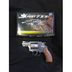 "New.Wingun Sport 733 ปืนลูกโม่ ระบบ co2 ขนาดลำกล้อง 2"" นิ้ว ราคาพิเศษ"