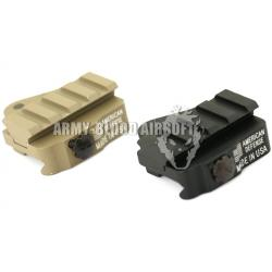 New.American Defence Style QD Throw Lever Dovetail Rail Mount สีดำ สีทราย ราคาพิเศษ