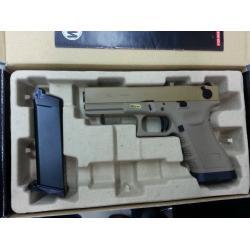 New.WE Glock18C T3 เซมิ-ออโต้ สไลด์ทราย เฟรมเขียว ท่อดำ ราคาพิเศษ