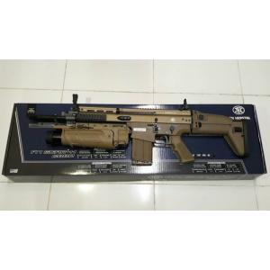 New.Cybergun FN SCAR-H MK17 GBB Rifle (Tan)+M203 ราคาพิเศษ