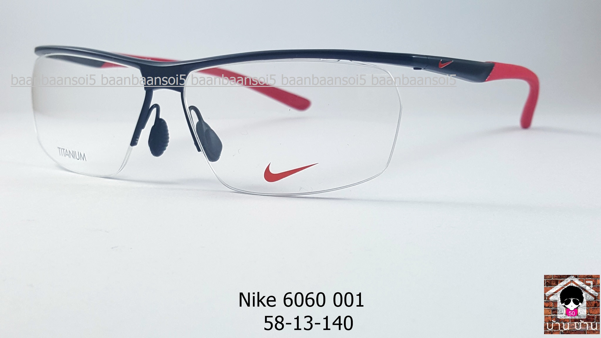 NIKE BRAND ORIGINALแท้ TITAUIUM 6060 001 กรอบแว่นตาพร้อมเลนส์ มัลติโค๊ตHOYA ป้องกันรังสีคอม 7,200 บาท