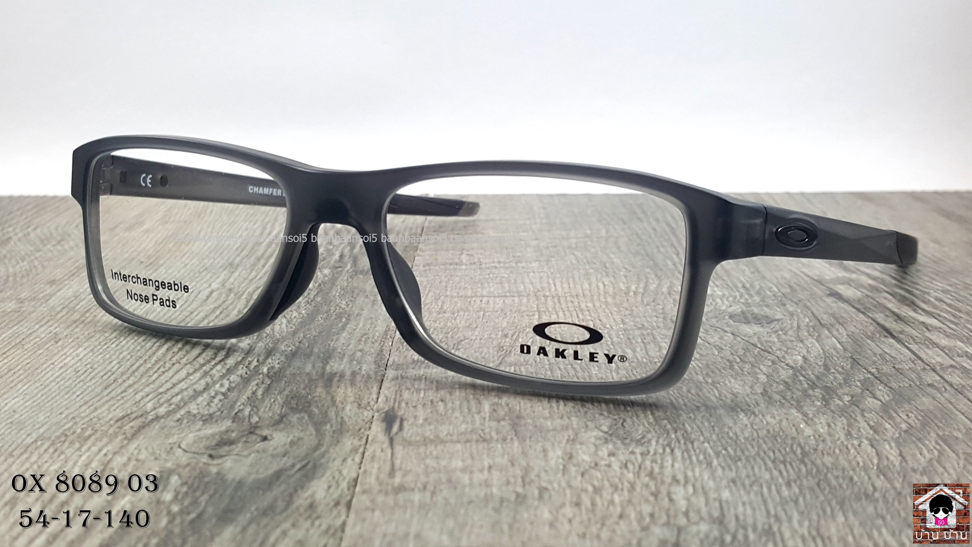 OAKLEY OX8089-03 CHAMFER MNP โปรโมชั่น กรอบแว่นตาพร้อมเลนส์ HOYA ราคา 4,700 บาท