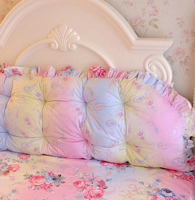 Pre-Order หมอนหัวเตียงเจ้าหญิง สีรุ้ง