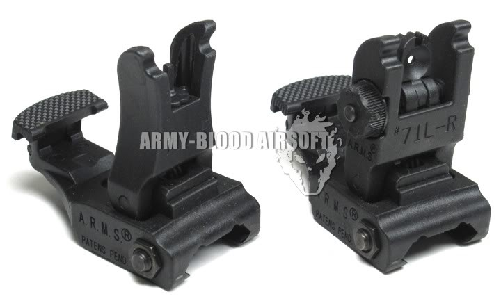 A.R.M.S. 71L Front and Rear Sights Set (BK)