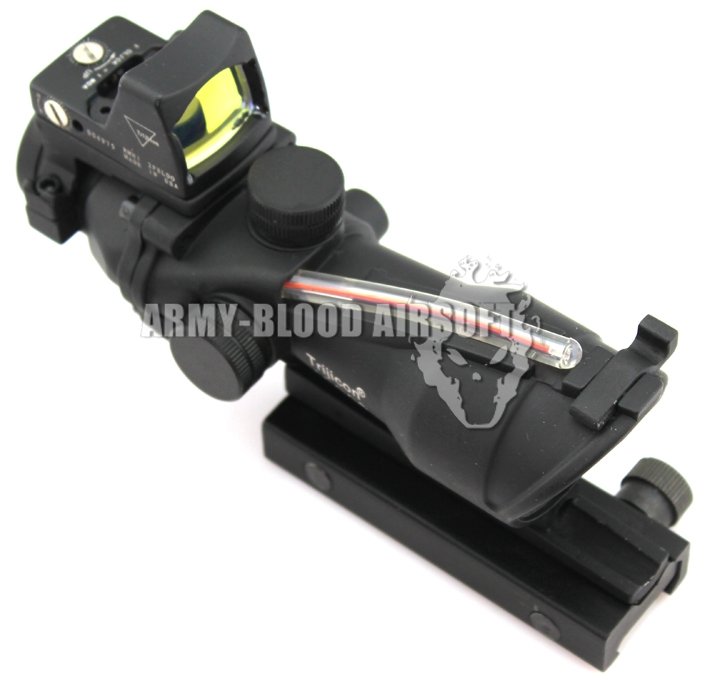 Trijicon ACOG TA31 Style 4x32 Scope Red Illuminated Auto Brightness W/ RMR RM01 Red Dot Reflex Sight