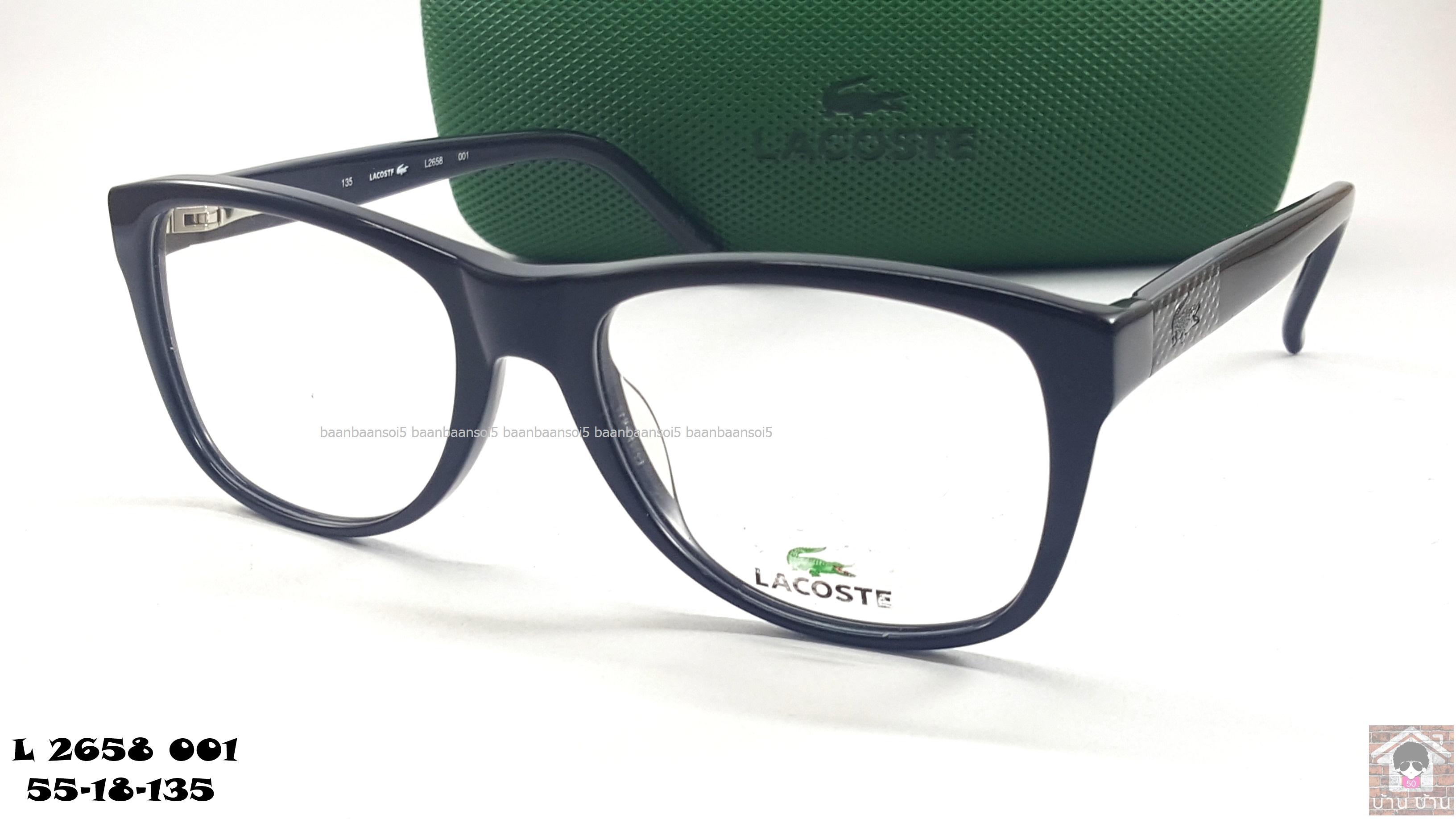 LACOSTE L2658 001 โปรโมชั่น กรอบแว่นตาพร้อมเลนส์ HOYA ราคา 3,900 บาท