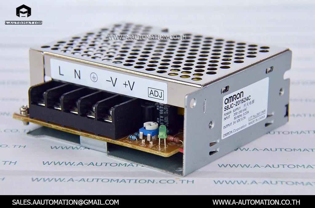 POWER SUPPLY MODEL:S8JC-Z01524C,240V 24V 0.75A [OMRON]