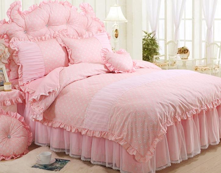 Pre-order ผ้าปูที่นอนเจ้าหญิงสีหวาน มี 5 สี เลือกสีด้านในค่ะ