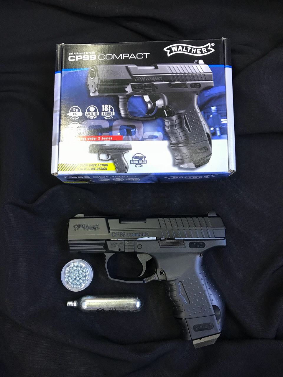 """Walther CP99 Compact (co2) New.Caliber0.177"""" (4.5mm) Max Velocity345 fps ราคาพิเศษ"""
