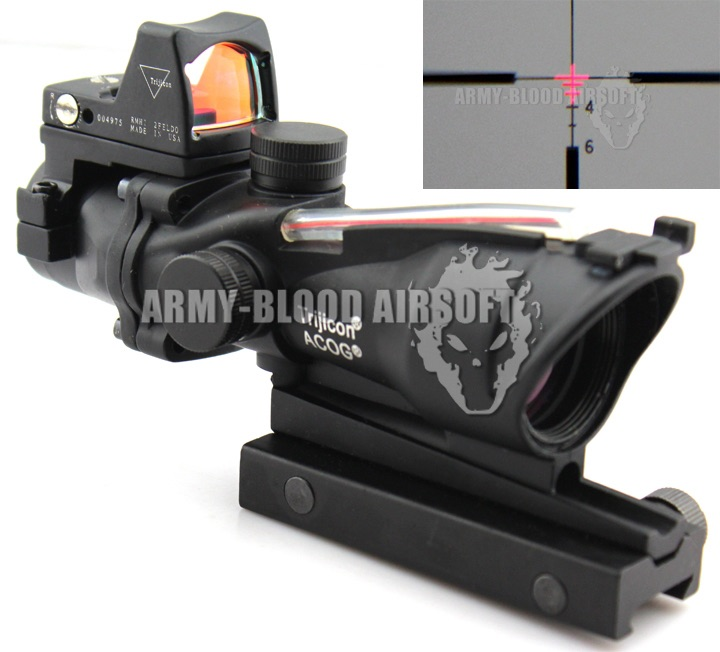 New.Trijicon ACOG TA31 Style 4x32 Scope Red Illuminated Auto Brightness W/ RMR RM01 Red Dot Reflex Sight(Red Type,Black)prev next ราคาพิเศษ