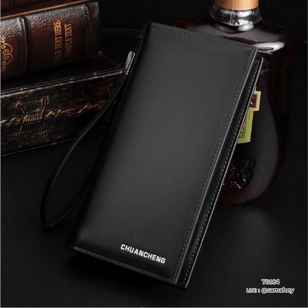 กระเป๋าสตางค์ผู้ชาย ทรงยาว CHUANCHENG - สีดำ