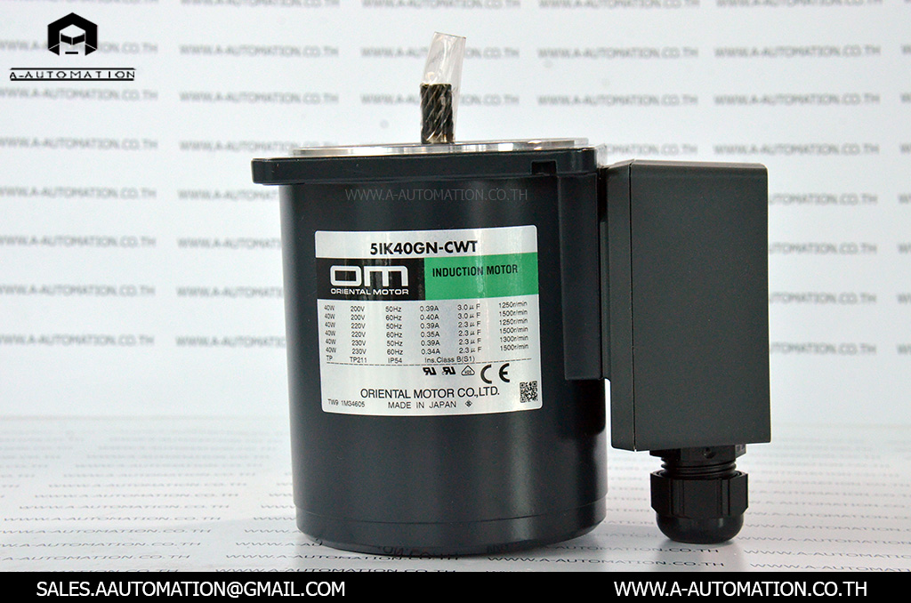 INDUCTION MOTOR MODEL:5IK40GN-CWTE [ORIENTAL MOTOR]