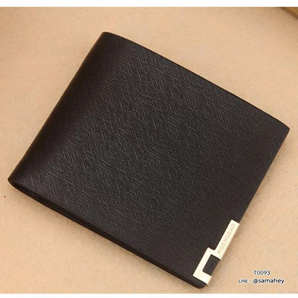 กระเป๋าสตางค์ผู้ชาย ทรงสั้น PIDENGBAO Metal - สีดำ