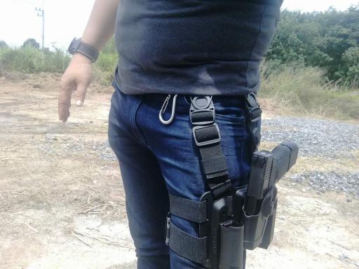 New.ซองปืนรัดต้นขา Glock17 , Glock19 ครบชุด ราคาพิเศษ