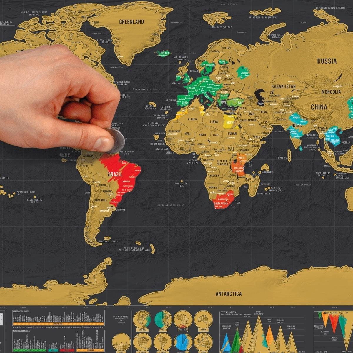 แผนที่โลกแบบขูด Scratch Map