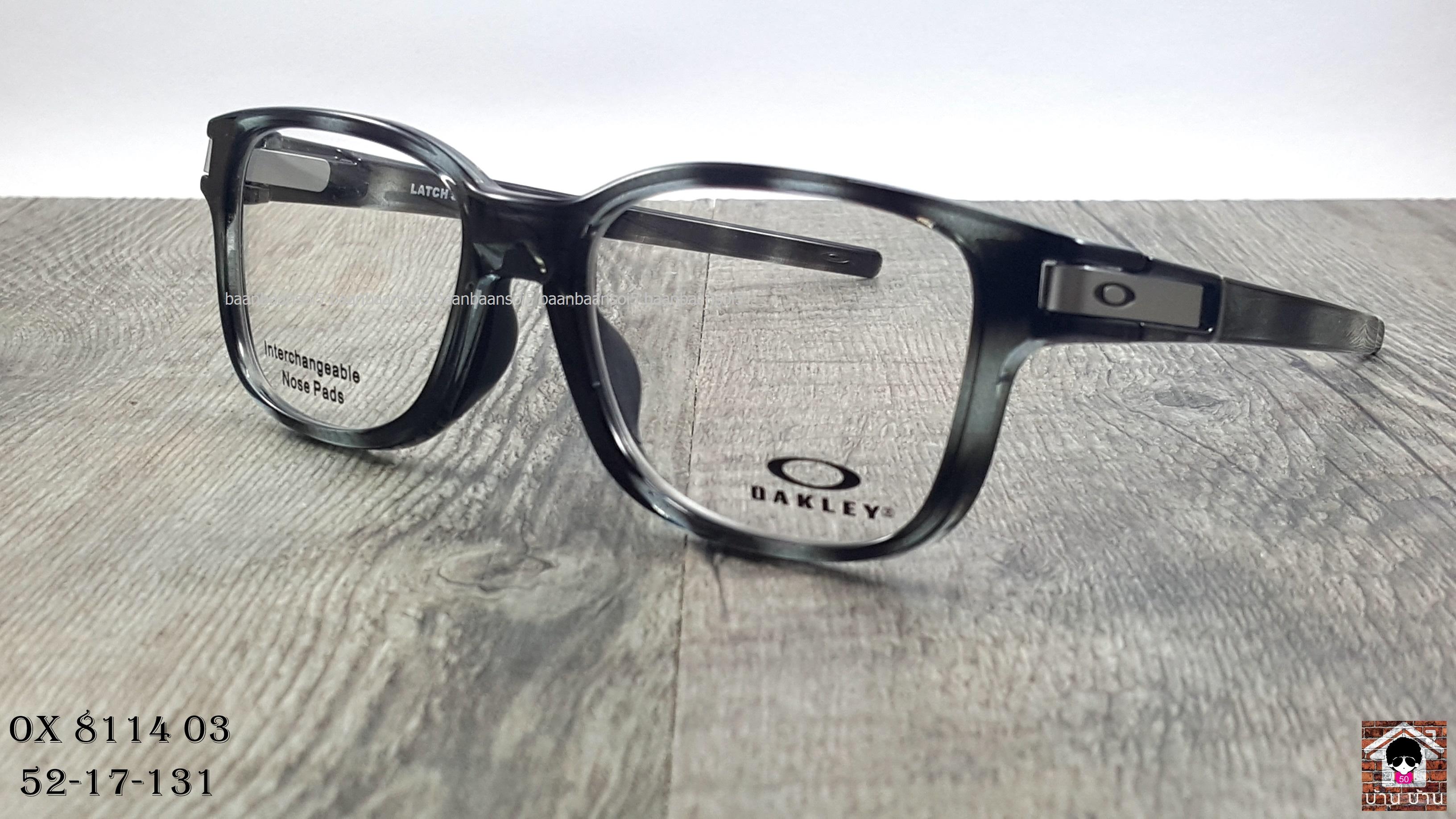 OAKLEY OX8114-03 Latch SS (MNP) โปรโมชั่น กรอบแว่นตาพร้อมเลนส์ HOYA ราคา 4,700 บาท