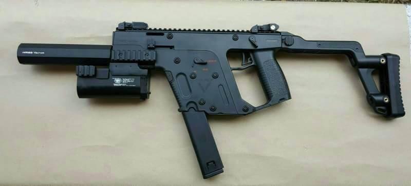 New.เครื่องยิง M203 A&K Kriss Super V (Kriss Vector) AEG ไฟฟ้า ราคา