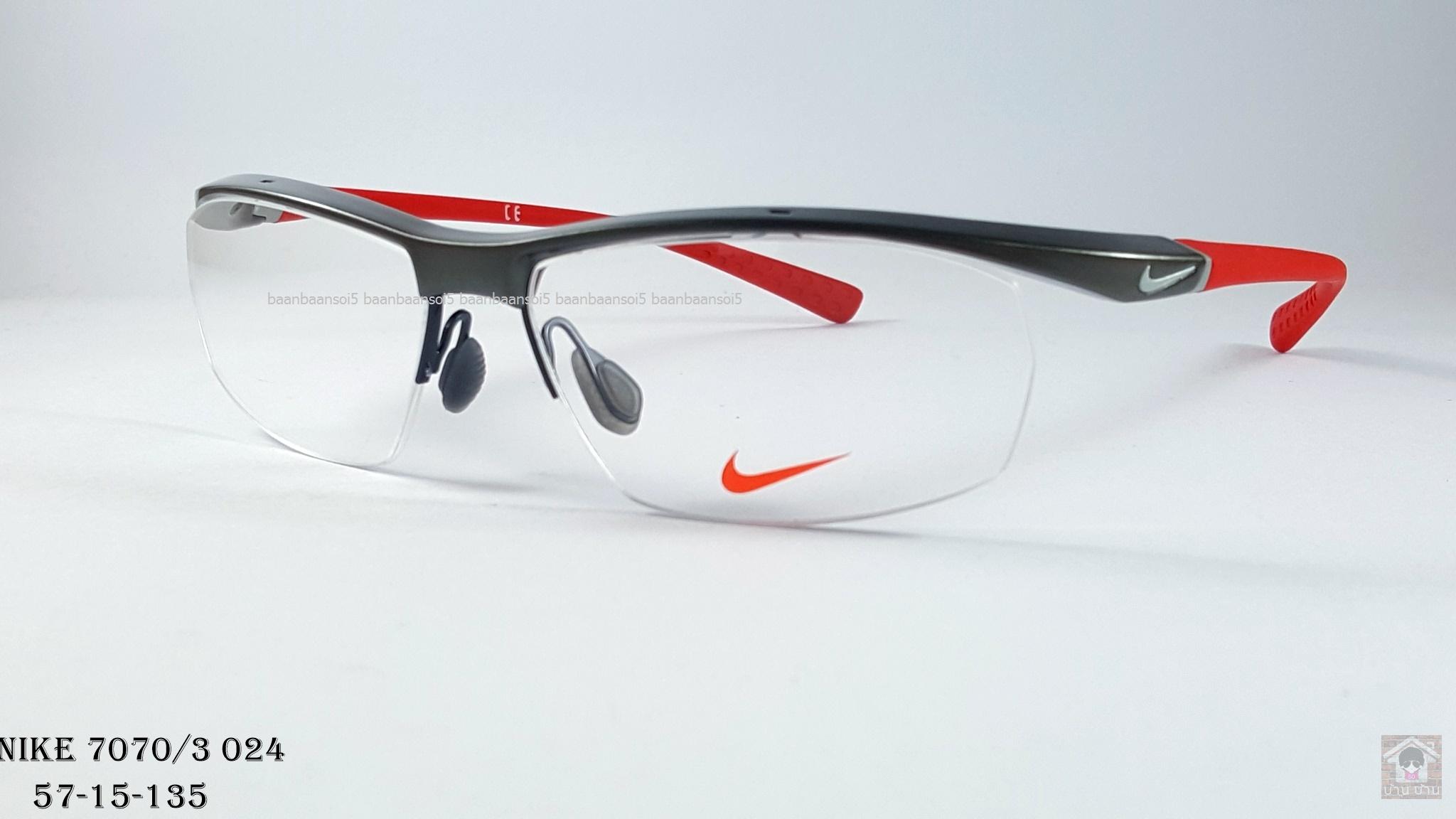 NIKE BRAND ORIGINALแท้ 7070/3 024 กรอบแว่นตาพร้อมเลนส์ มัลติโค๊ตHOYA ป้องกันรังสีคอม 4,200 บาท