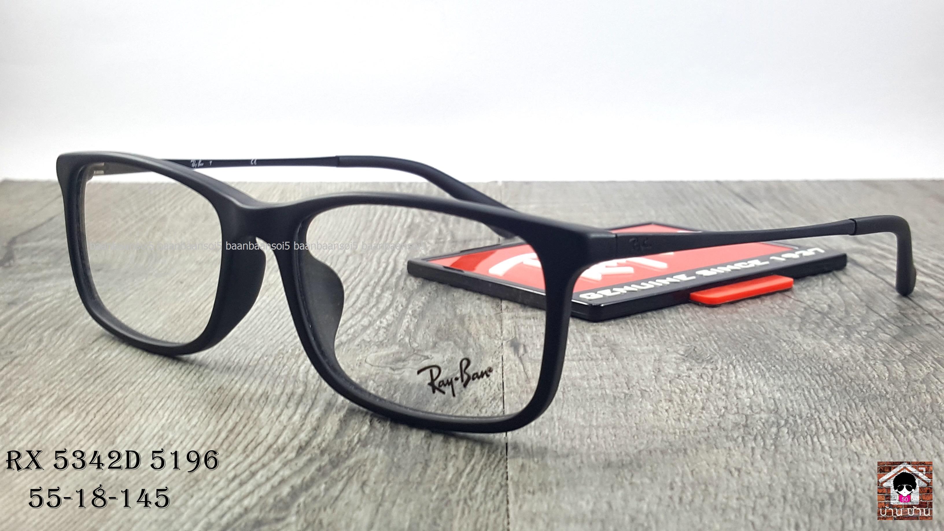 Rayban RX 5342D 5196 โปรโมชั่น กรอบแว่นตาพร้อมเลนส์ HOYA ราคา 3,500 บาท