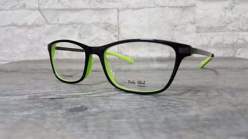 POLO club pc 3200 กรอบแว่นตาพร้อมเลนส์ มัลติโค๊ตHOYA ป้องกันรังสีคอม
