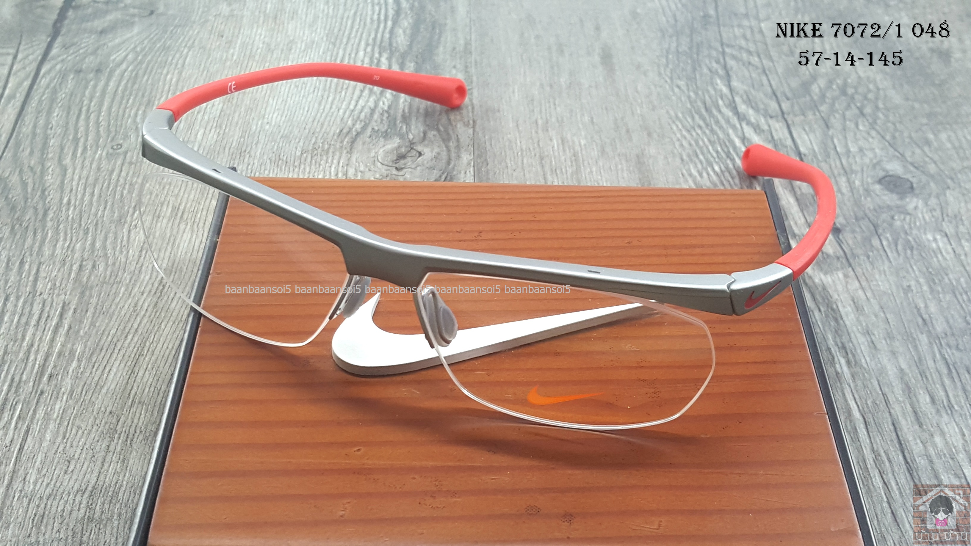 NIKE BRAND ORIGINALแท้ 7072/1 048 กรอบแว่นตาพร้อมเลนส์ มัลติโค๊ตHOYA ป้องกันรังสีคอม 4,200 บาท