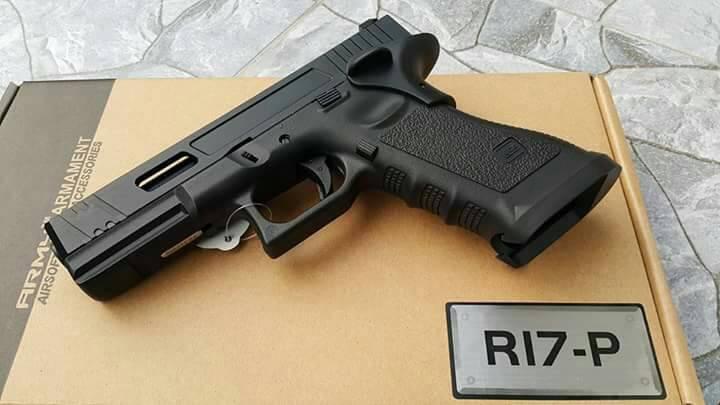 New.Army CNC Metal Slide G17 P Style GBB Pistol (Black) [ARM-GBB-G17-P-BK] ราคาพิเศษ