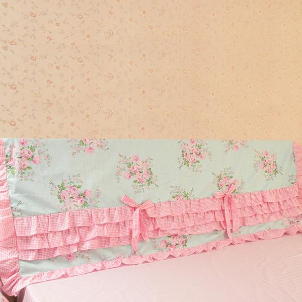Pre-Order ผ้าคลุมหัวเตียงแต่งระบาย มี 2 สี เลือกสีด้านในค่ะ