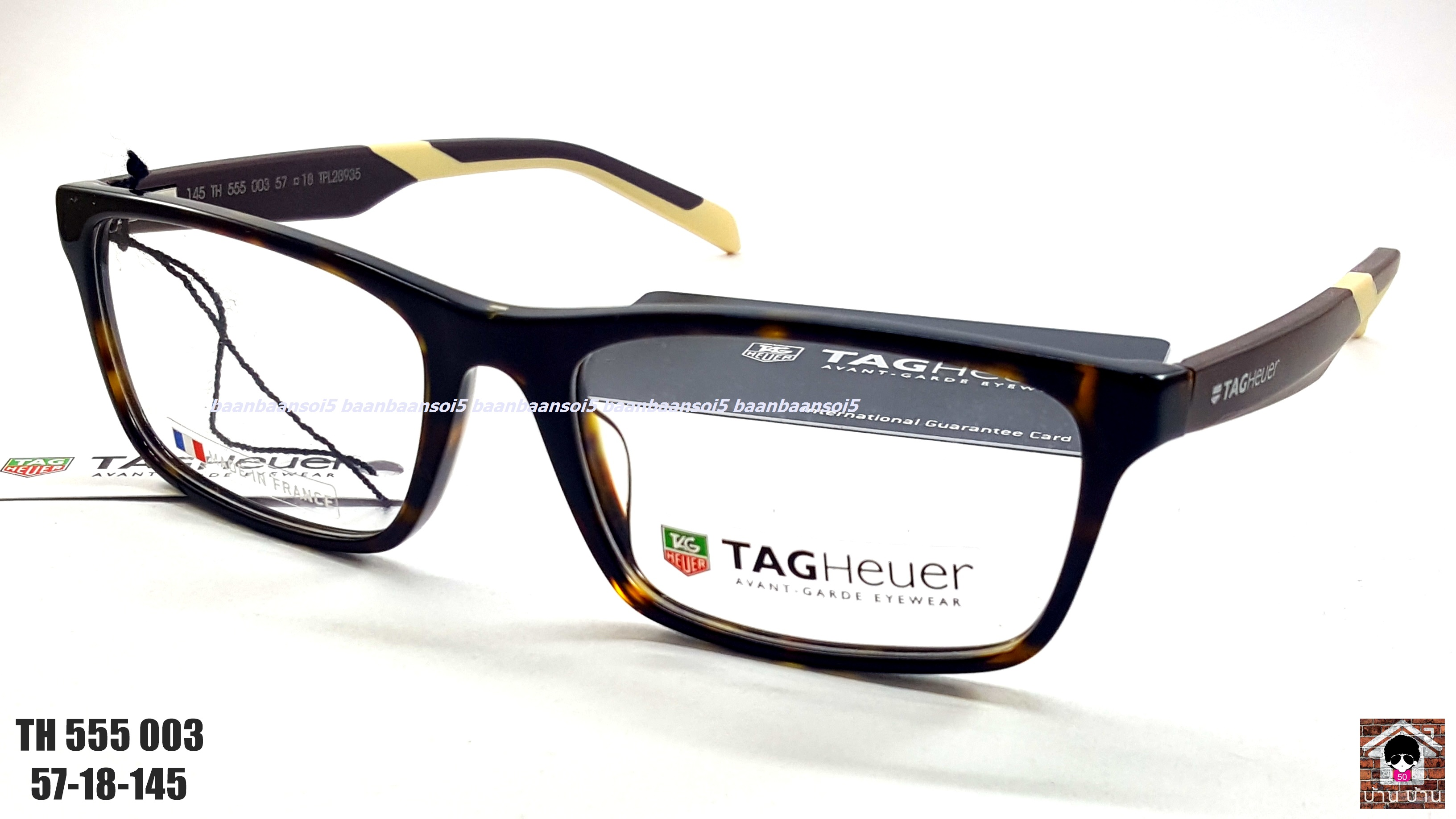 TAG HEUER TH 555 003 Eyeglasses Authentic โปรโมชั่น กรอบแว่นตาพร้อมเลนส์ HOYA ราคา 6,200 บาท