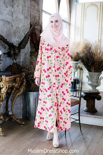 Sweet Cherry Muslimah Dress