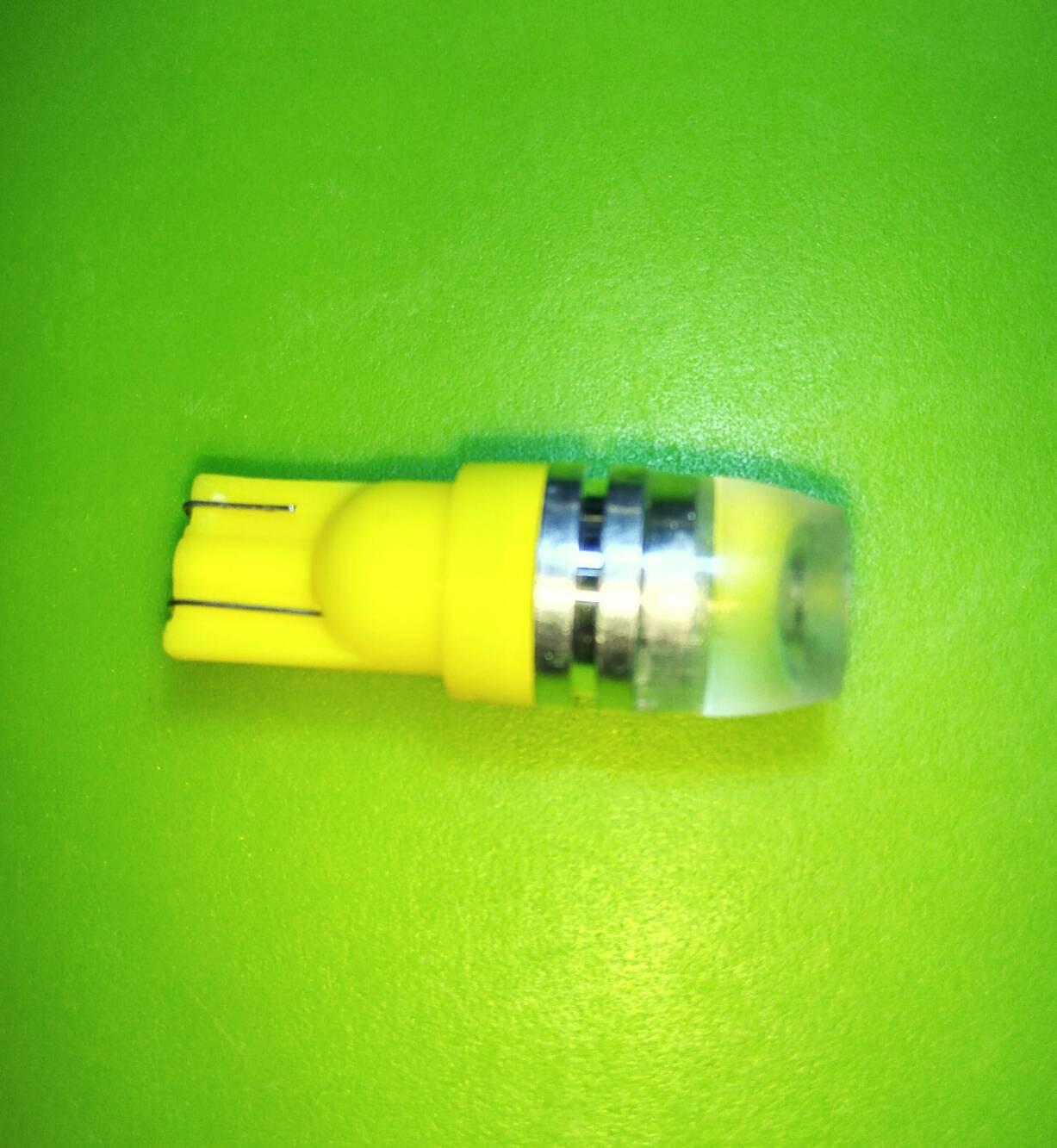 ไฟเลี้ยวแก้ม LED แสงสีเหลืองขา T10