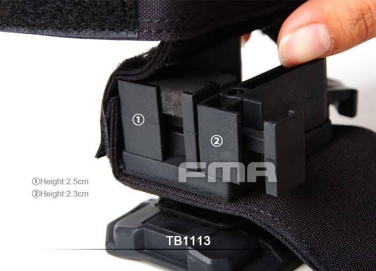 ซองปืนปลดไวล้อยเข็มขัด สามรถใส่กับปืนได้หลายรุ่น รวมทั้งปืนที่ติดไฟฉาย หรือติดเลเซอร์ จากค่ายFMA มีสีทรายและดำ